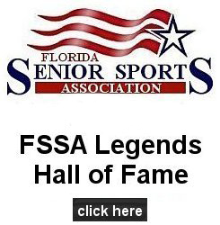 logo for the senior softball Legends Hall of Fame in Florida